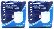 Caroli Adult Pull Up Incontinence, Pants Nappies Large - Pack of 20 Pants