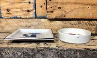 Vintage mushroom plates OB collector plate Round Square Cigarette Snuff