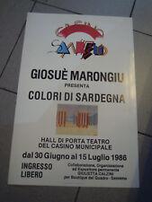 POSTER 1986 - CASINO' DI SANREMO GIOSUE' MARONGIU PITTORE -   (MAN)