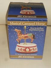 "2010 Mr Christmas Musical Carousel Horse ""We Wish You A Merry Xmas"" Nib"
