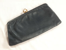 '60'S FRENCH VINTAGE LEATHER CLUTCH BAG