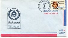 FFC 1984 First Flight Delta Air Lines Richmond Atlanta Georgia US Postal Service