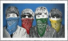 MBW Beatles Bandidos Blue Mr Brainwash RARE, signed, Guetta, 100 ONLY, FREE