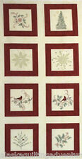 """MODA Fabric Quilt Panel ~ CHRISTMAS SPIRIT FLANNEL ~ by Holly Taylor  24"""" X 45"""""""