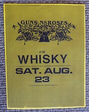 Guns & Roses Early Aug 23rd 1986 Whiskey A Go Go Concert Flyer Poster Copy #14