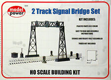 2 Track Signal Bridge Set Model RR Building Kit HO 1:87 by Model Power