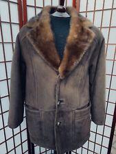 ANTONOVICH Jindo Coat Mens Suede Fur Collar 94-79-165 Size L Large