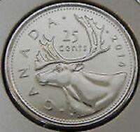 2014 Quarter 25¢ Twenty Five Cent '14 Canada-Canadian BU Coin UnCirculated RCM