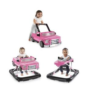 Bright Starts 3 Ways to Play Pink Ford F-150 Baby Walker with Activity Station