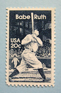 """Sc # 2046 ~ 20 cent George Herman """"Babe"""" Ruth Issue (fb9)"""