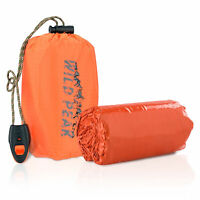 Wild Peak Emergency Survival Waterproof Bivy Sack Thermal Mylar Sleeping Bag