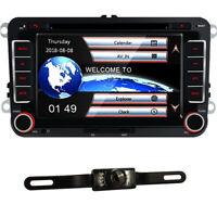 """7"""" Autoradio+Kamera Navi GPS SD DVD USB BT Für VW Golf 5 6 Passat Seat Skoda EOS"""