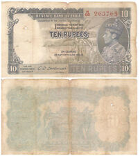 Vtg Forgery Currency Sir CD Deshmukh Sign RBI 10 Rupee British Royalty Portrait