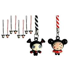 SET OF 10 PUCCA AND GARU BELL CHARMS Cute Cartoon Tiny Cell Phone Straps Craft