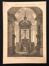 1873 antico libro di stampa/PIASTRA DI INGRESSO ALLA TOMBA DI NAPOLEONE, Chiesa di Senna