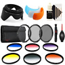 55mm Color Filter Kit with Accessory Kit for Nikon D3400 , D5300 and D5600