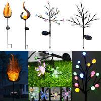 Solar Power LED Flame Light Waterproof Outdoor Garden Lawn Landscape Decor Lamp