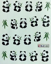 Nail Art Water Decals Panda Bear BLE1491