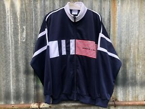 GENUINE FRENCH AIR FORCE TRACKSUIT TOP - LARGE SIZE - RETRO - GRADE-1