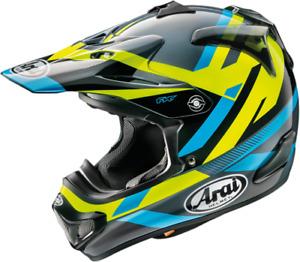 Arai MX-V MACHINE MXV Motocross Offroad MX Race Helmet Black Yellow Blue Adults