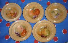 """Vintage Czechoslovakian  4 Fruit Plates  D=15cm/6""""."""