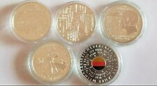 GERMANY 20 EURO COMPLETE 5 SILVER COIN SET 2019 BU UNC IN CAPSULES