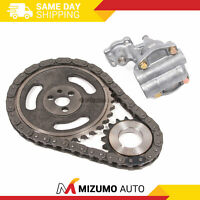 Timing Chain Kit Oil Pump (Roller Type Chain) Fit 96-02 Chevy GMC Cadillac 5.7