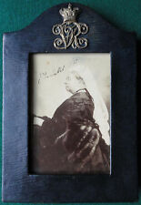 Queen Victoria Signed Presentation Walery Photo & Leather Frame 1887 VRI