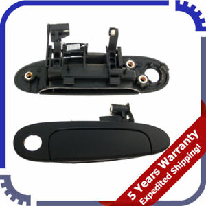 For 00-05 Toyota Echo Outer Door Handle W/Keyhole Front Right Black HO.TO.001.FR