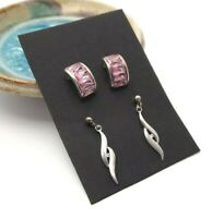 Sterling Silver Drop Earrings Eclectic Jewellery Set