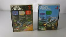 PHILIPS VIDEOPAC g7000 jeux nº 2 & Nº 4 (g7000 & g7400)