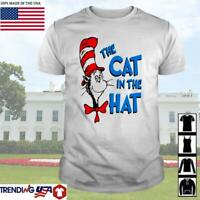 The cat in the hat Dr. Seuss Shirt Short Sleeve Unisex Tee TShirt S-5XL