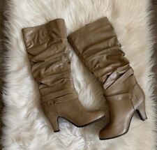 Rampage Womens Boots Emmerson Camel Mid-Calf Buckle Slouch Boots 8.5