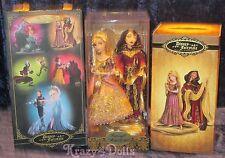 Disney Designer Fairytale Dolls Heros&Villains Rapunzel & Mother Gothel LE New!