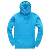 Kids Childrens Plain Hoodie Hooded Sweatshirt Girls Boys Pullover