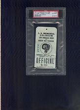 1971 LA Rams vs Green Bay Packers NFL football press field pass PSA authentic