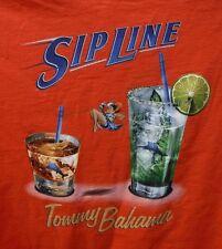 Tommy Bahama RELAX Size 2XT Sip line Orange TShirt New Mens Shirt