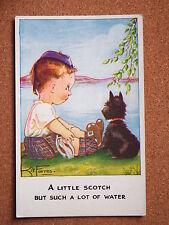 R&L Postcard: Artist Kit Forres, Regent Pub. 6212, Scottie Dog & Scots Boy
