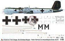 Peddinghaus 1/48 He 177 A-5 Markings 4./KG 40 Bordeaux-Merignac France WWII 2363