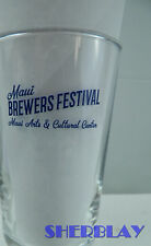 MAUI BREWING CO BREWERS FESTIVAL Beer Fest Small Brewery Glass 3 3/4""