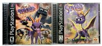 Playstation 1 Spyro The Dragon & Year Of The Dragon Complete Tested Black Label