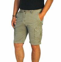 Bermuda Uomo Cargo Pantalone corto Tasconi Pantalone Casual Cotone