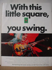 1968 Sperry & Hutchinson Green Stamps Electric Guitar Vintage Print Ad 10266