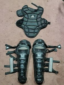 Adidas Baseball Catchers Equipment Chest Protector & Shin Guards