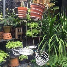 6PCs ALUMINIUM HANGER BASKET SMALL PLANT POT ORCHID CACTUS HOME & GARDEN DECOR#S
