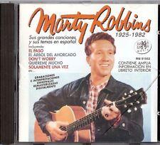 MARTY ROBBINS - SUS GRANDES CANCIONES Y SUS TEMAS EN ESPANOL CD 2001 RAMA-LAMA