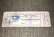 1977 TICKET - REAL MADRID V ARGENTINA (PRE 1978 WC) 75TH ANNIVERSARY TOURNAMENT