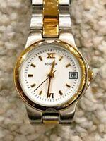 Retro Chic Sekonda Ladies Date Aperture WR30M Quartz 2-Tone Bracelet Watch 4670