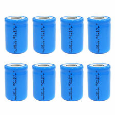 8 pcs 4/5 Sub C SC 1600mAh 1.2V Ni-Cd rechargeable Battery Cell Flat Top Blue