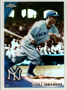 2010 Topps Chrome Wrapper Redemption Refractor #223 Lou Gehrig - Yankees
